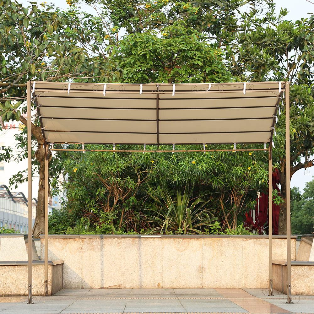 iKayaa 3*2.5*2.5M Metal Patio Garden Gazebo Outdoor Canopy & sand iKayaa 3*2.5*2.5M Metal Patio Garden Gazebo Outdoor Canopy ...
