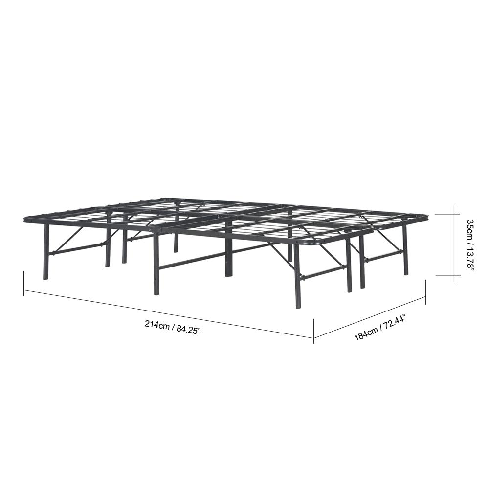 Sólo 298.38€, iKayaa Moderno Heavy-duty plataforma de metal cama ...