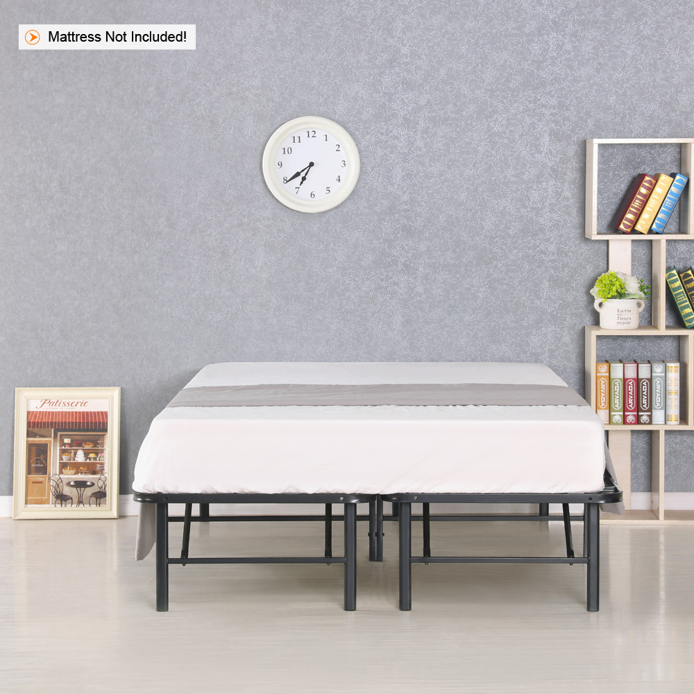 Sólo 293.65€, iKayaa Moderno Heavy-duty plataforma de metal cama ...