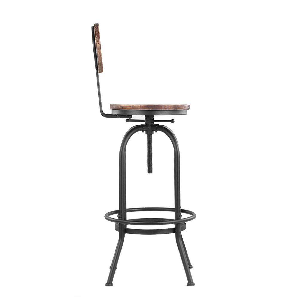 IKayaa Bar Stool Height Adjustable Swivel Kitchen Dining Chair