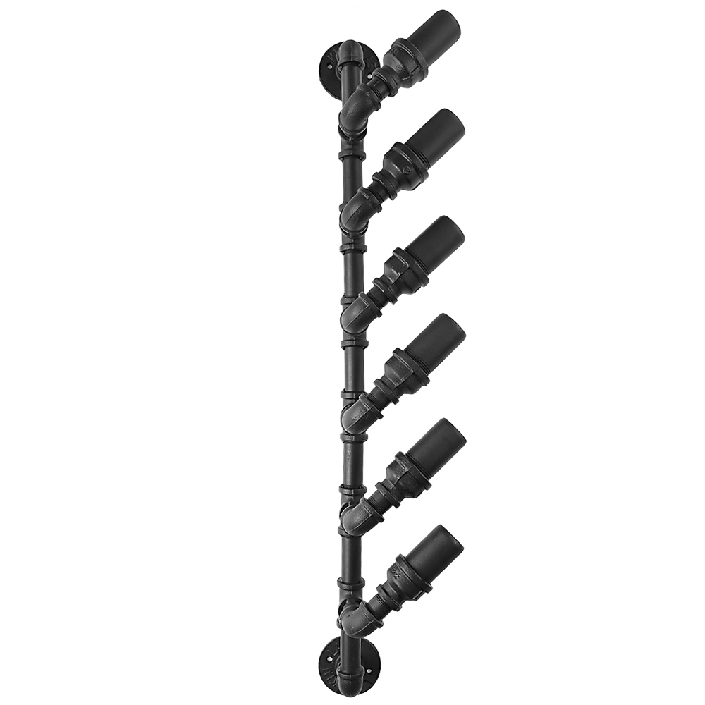 ikayaa industrial 6 bouteilles wall mount wine rack porte. Black Bedroom Furniture Sets. Home Design Ideas