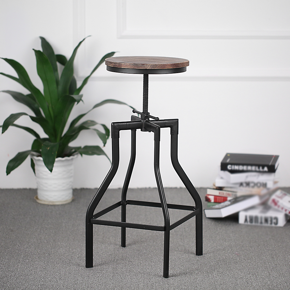 only tabouret de bar pivotant r glable en hauteur. Black Bedroom Furniture Sets. Home Design Ideas
