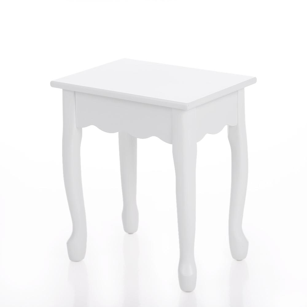Único Tocador Blanco Set De Joyería Armario Muebles Cajón Banco De ...