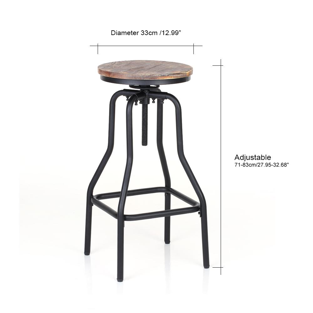 Solo 39.00€, iKayaa stile industriale altezza regolabile girevole ...