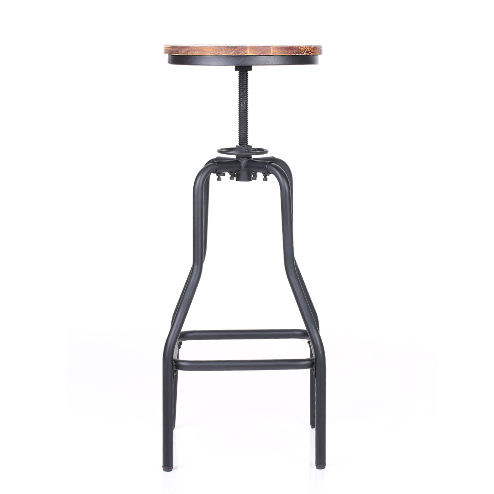 Ikayaa style industriel chaise ajustable de bar pin for Housse pour tabouret de bar