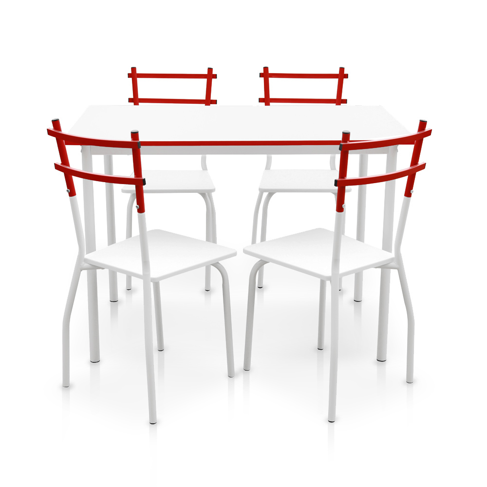 Ikayaa modern metal frame 5pcs table manger avec 4 - Ensemble table a manger ...
