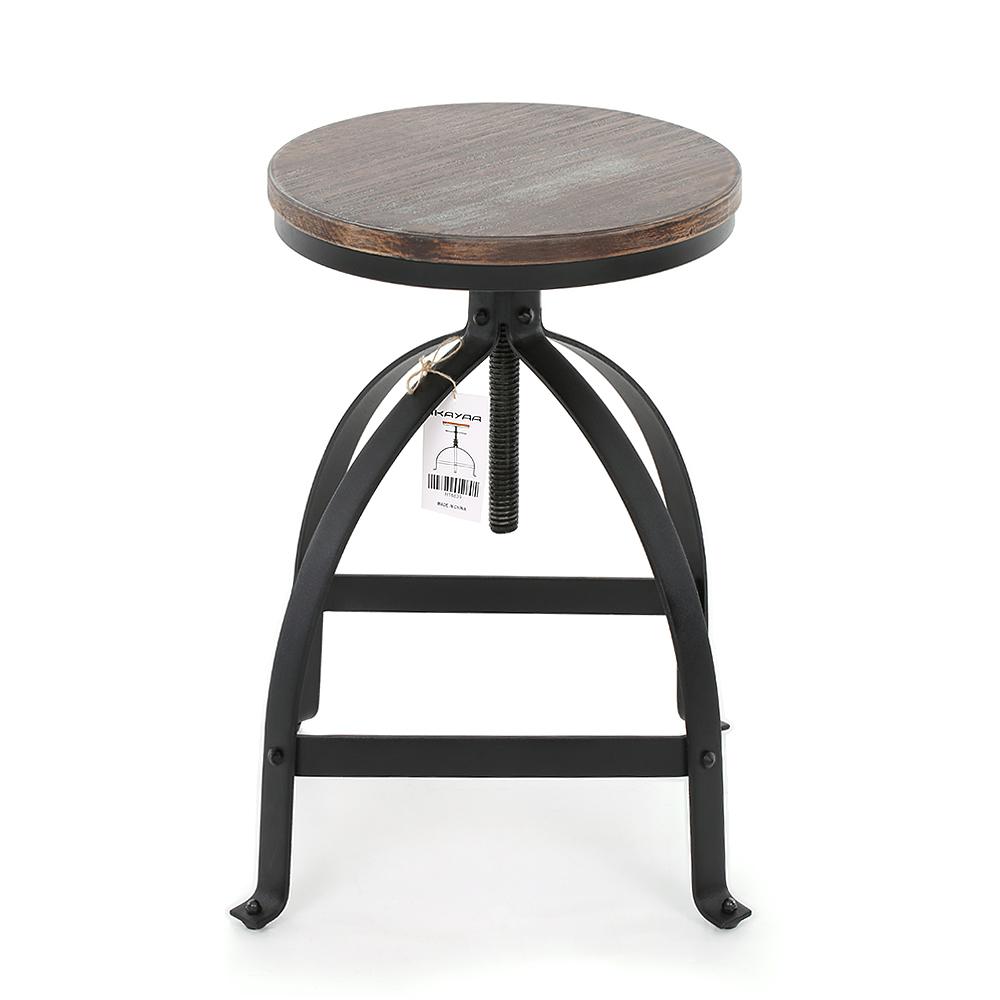 Nur 43.32€, iKayaa industriellen Stil Einstellbare Höhe Swivel Küche ...