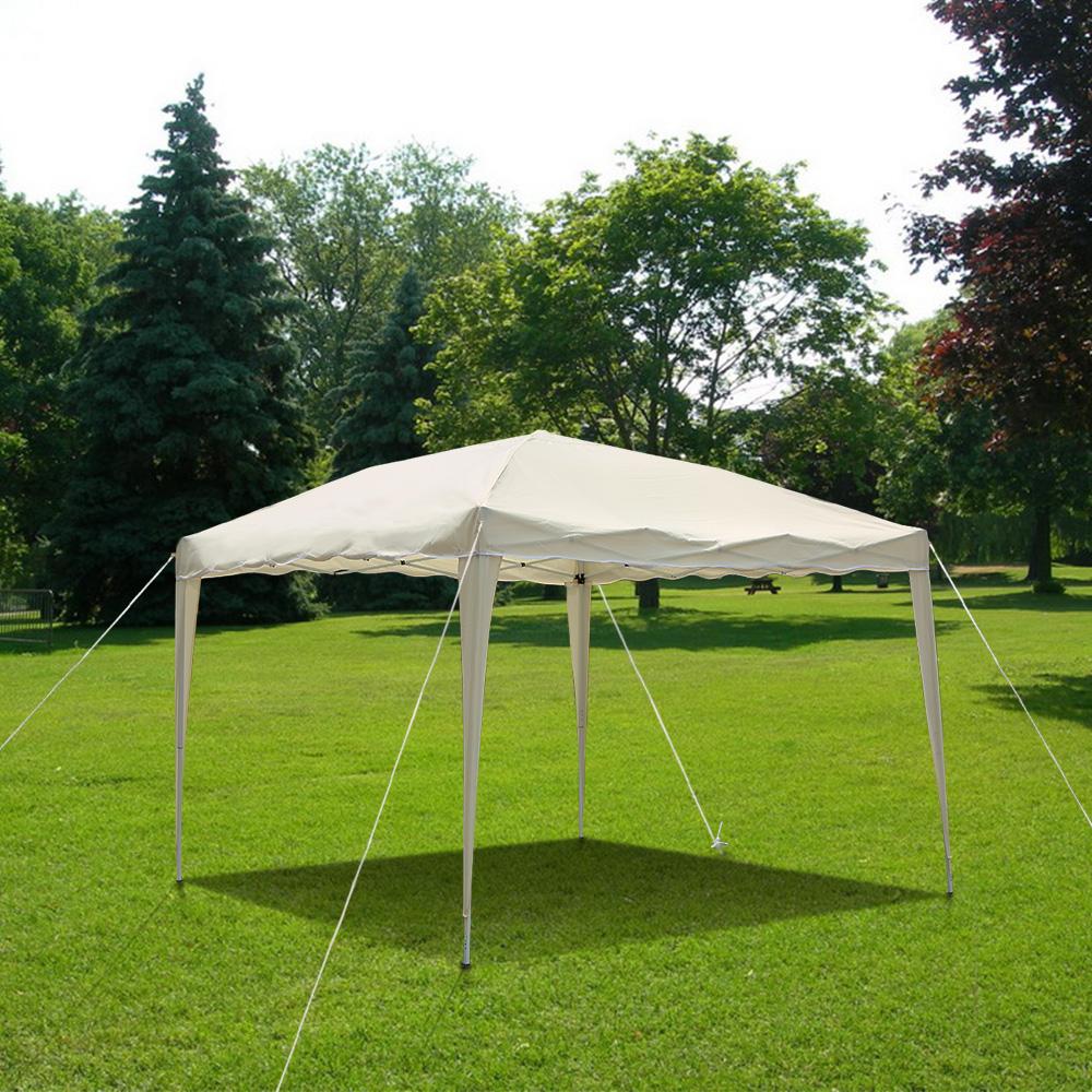 iKayaa 3*3*2.6M Folding Outdoor Garden Gazebo Canopy Tent & white iKayaa 3*3*2.6M Folding Outdoor Garden Gazebo Canopy Tent ...