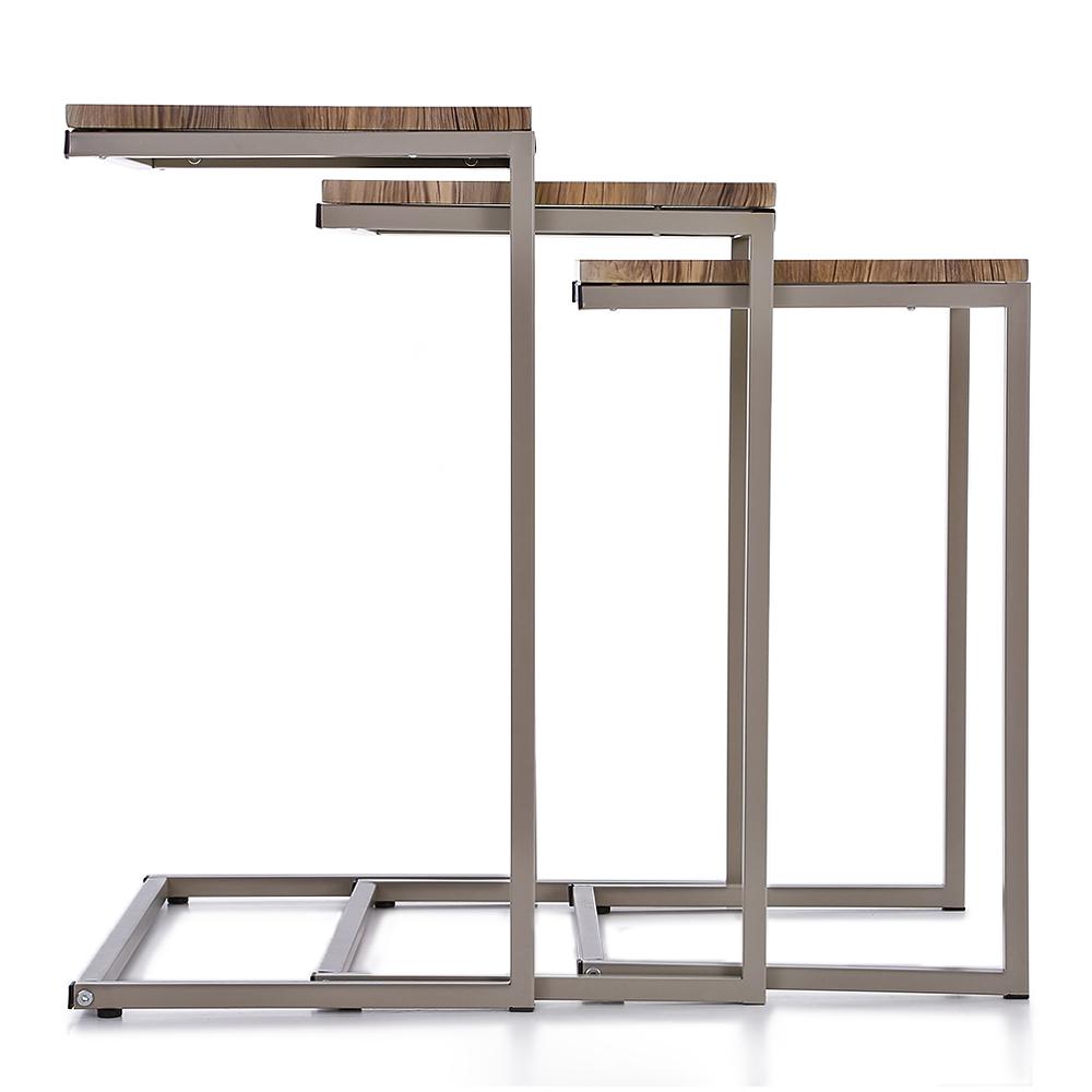 Sólo 39.32€, iKayaa 3PCS metal mesas nido marco establecido Tablas ...