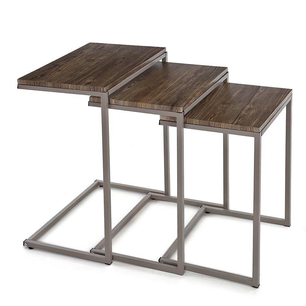 Sólo 39.60€, iKayaa 3PCS metal mesas nido marco establecido Tablas ...