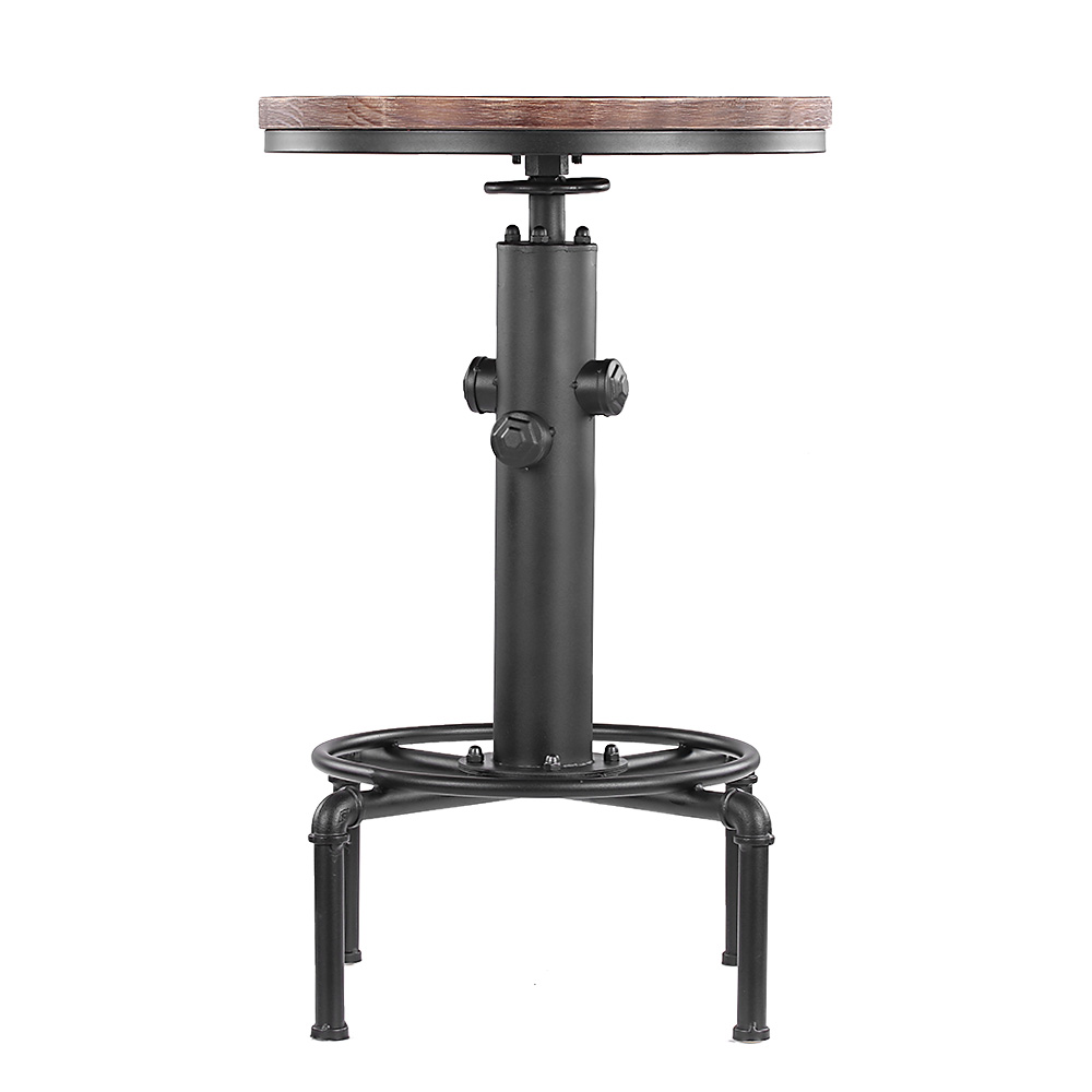 d s table de bar ikayaa style industriel en bois et acier. Black Bedroom Furniture Sets. Home Design Ideas