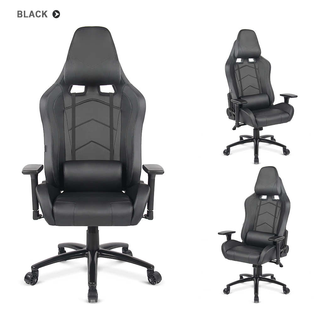 black ikayaa ergonomic racing gaming office computer desk executive chair. Black Bedroom Furniture Sets. Home Design Ideas