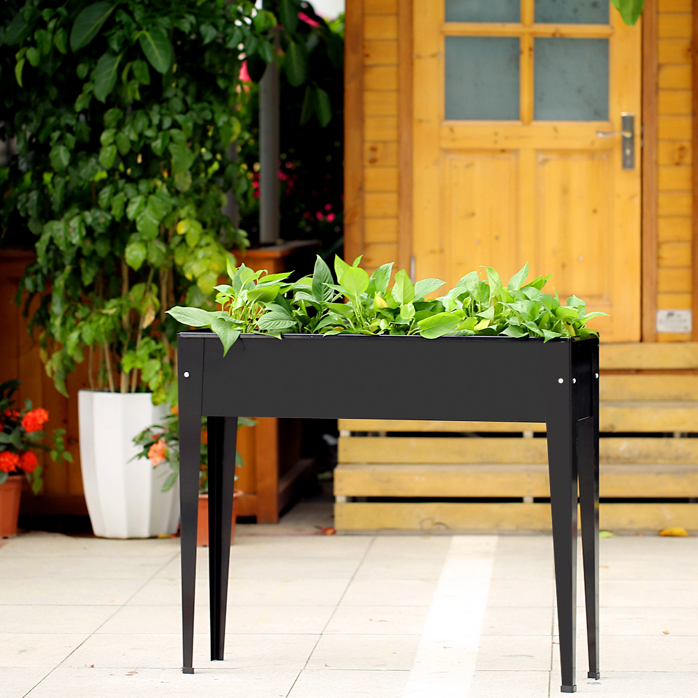 High Quality IKayaa Metal Patio Elevated Garden Planter