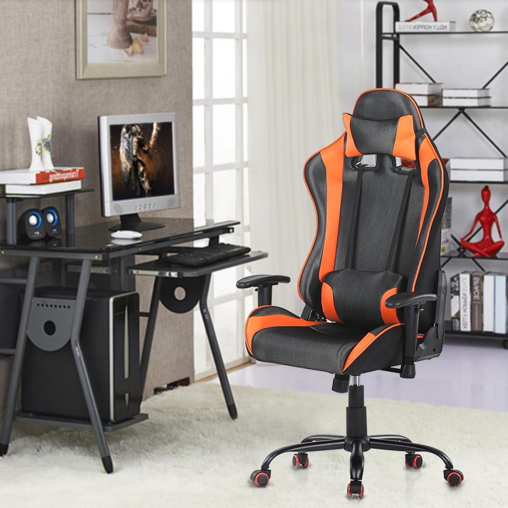 Excellent Orange Ikayaa Ergonomic Racing Gaming Office Computer Desk Chair Lovdock Com Squirreltailoven Fun Painted Chair Ideas Images Squirreltailovenorg