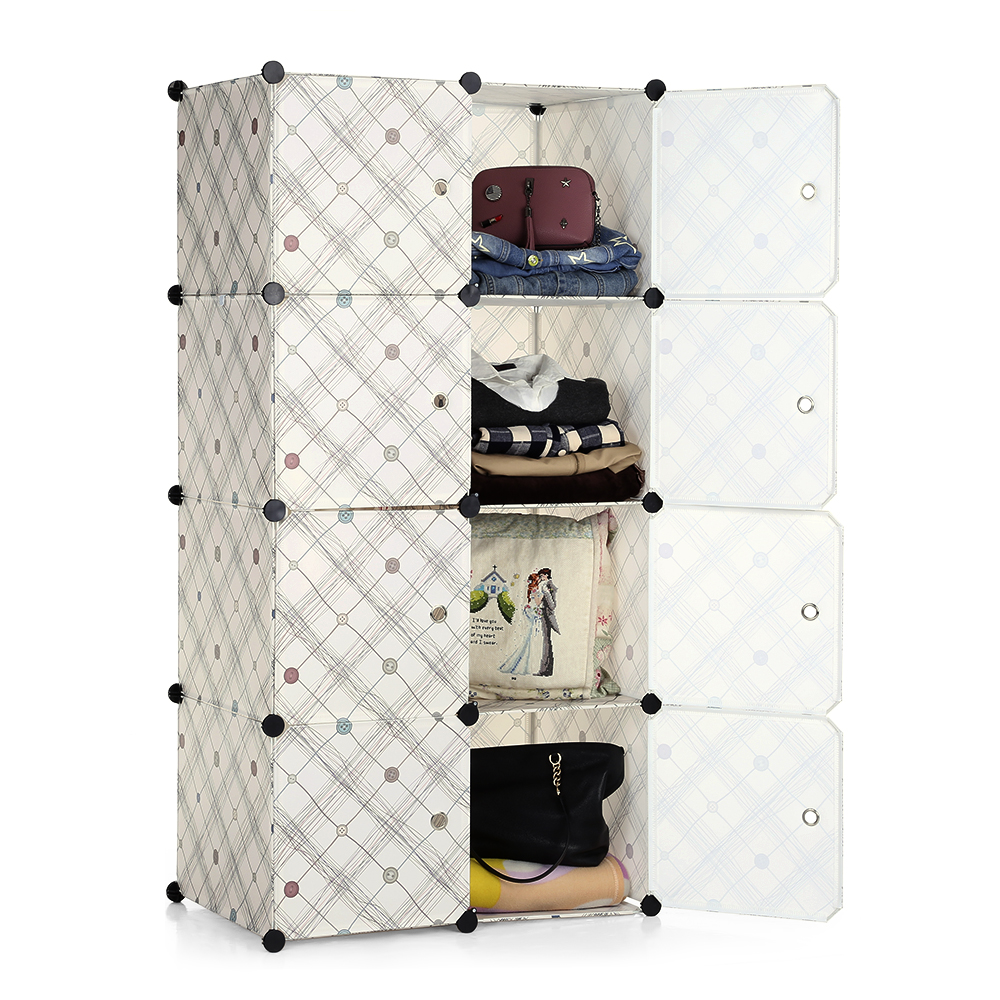 Ikayaa mode multi usage clothes closet armoire cabinet for Armoire modulable
