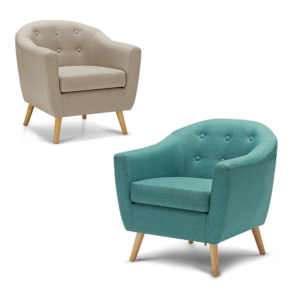 Solo 345.47€, iKayaa Soggiorno Teal / Beige Poltrona Poltrona Chair ...