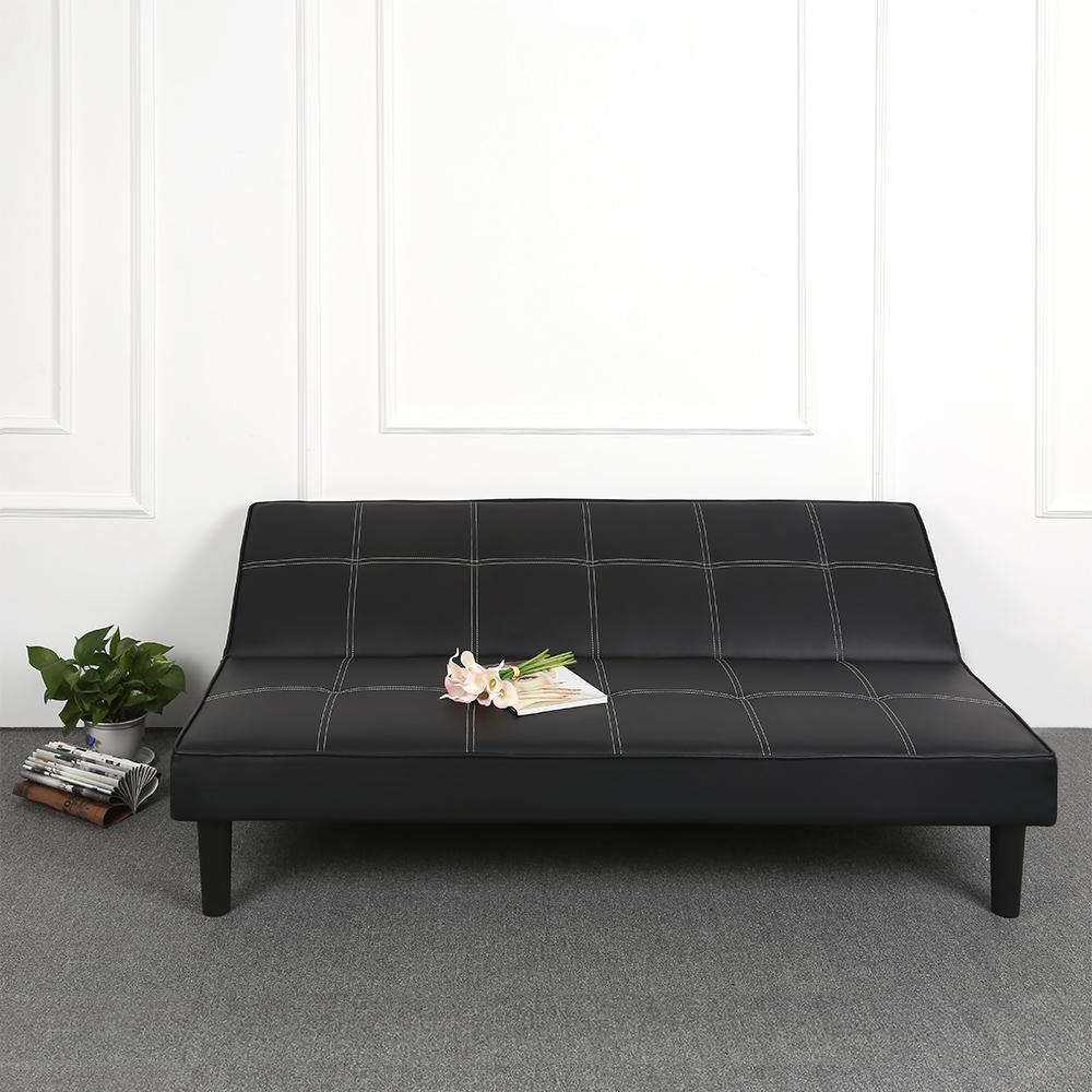 Sólo 268.60€, Cuero de imitación contemporánea futón sofá cama ...