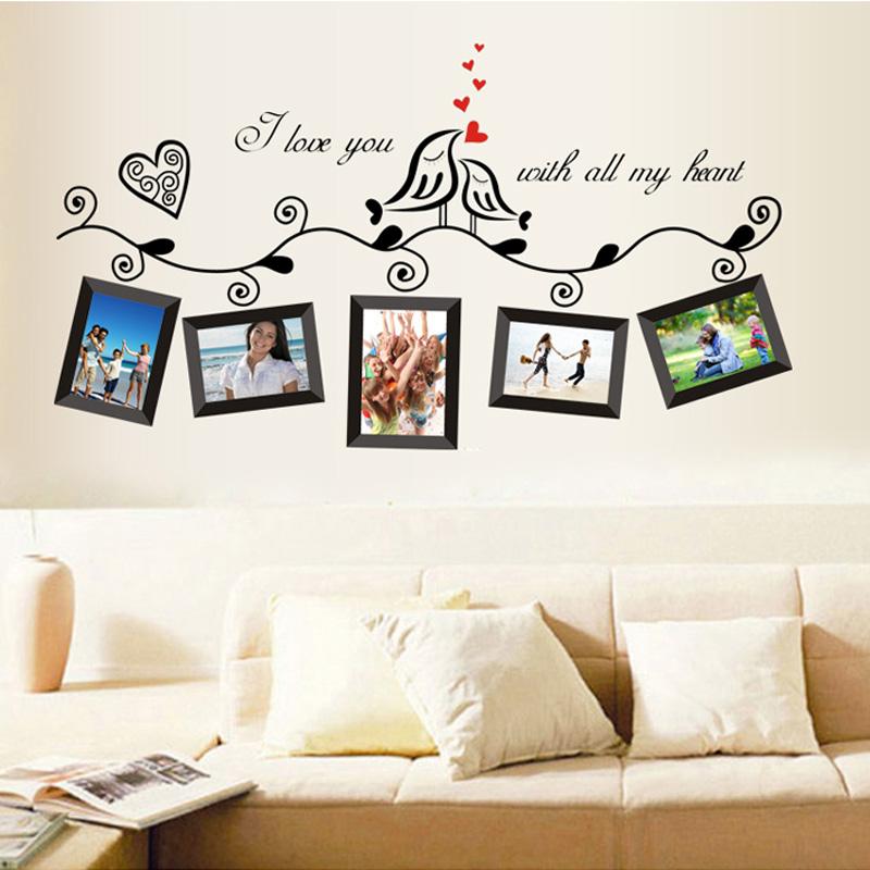 Sólo 5.16€, Aves foto marco arte pegatinas etiqueta boda romántica ...