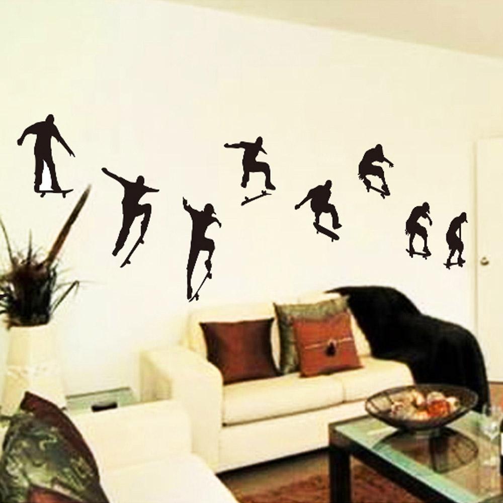 Skateboard Sports Cool Life Simple Black Wallpaper