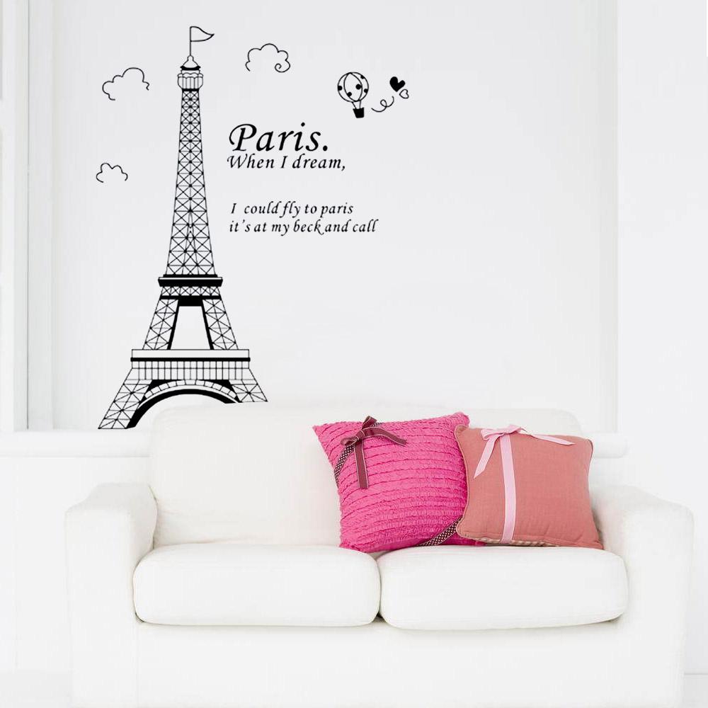 Tatuaggi Da Muro.Solo 5 46 Romantica Parigi Torre Eiffel Bella Vista Di Francia Carta Parete Fai Da Te Diy Wallpaper A Adesivi Murali Wall Stickers Adesivi Da