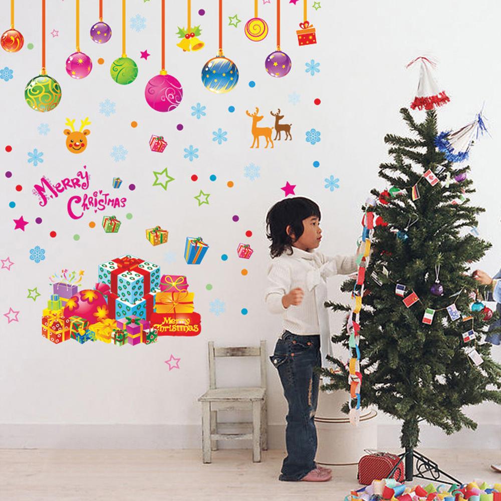 Christmas Removable Art Decals Mural DIY Wallpaper