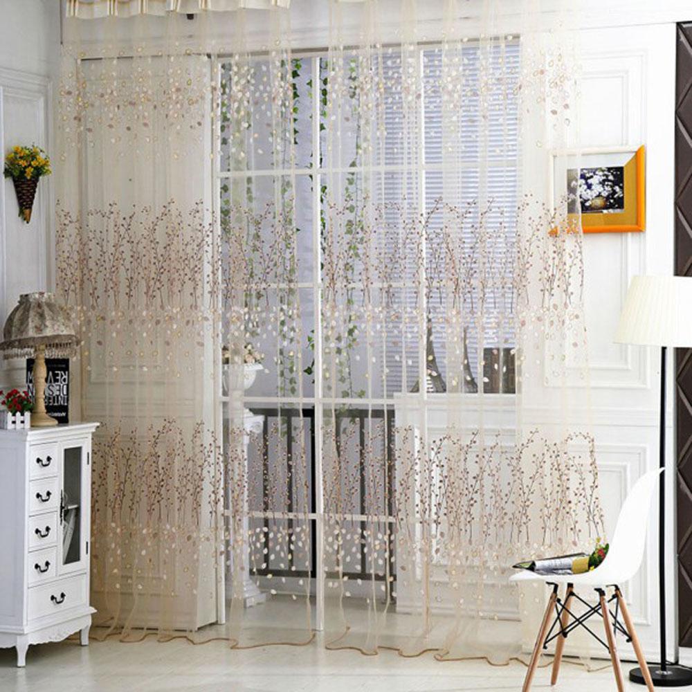 Rideau Pour Porte Fenetre only 14.25€, rideaux d'ombrage à moitié du motif de calycanthe pour la  décoration de porte fenêtre chambre fond de fenêtre rideaux pastoraux voile