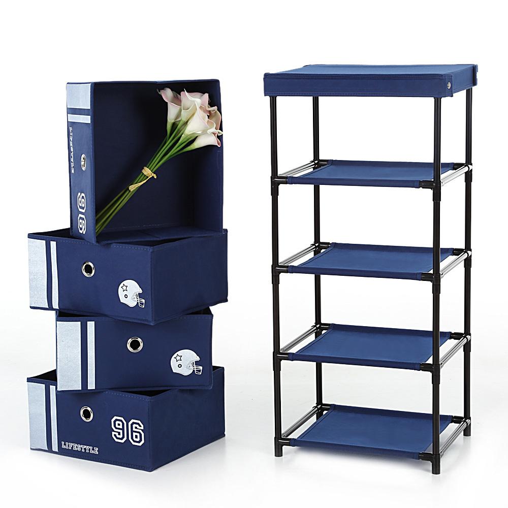 meuble de rangement qautre tiroirs tissu interouge home. Black Bedroom Furniture Sets. Home Design Ideas
