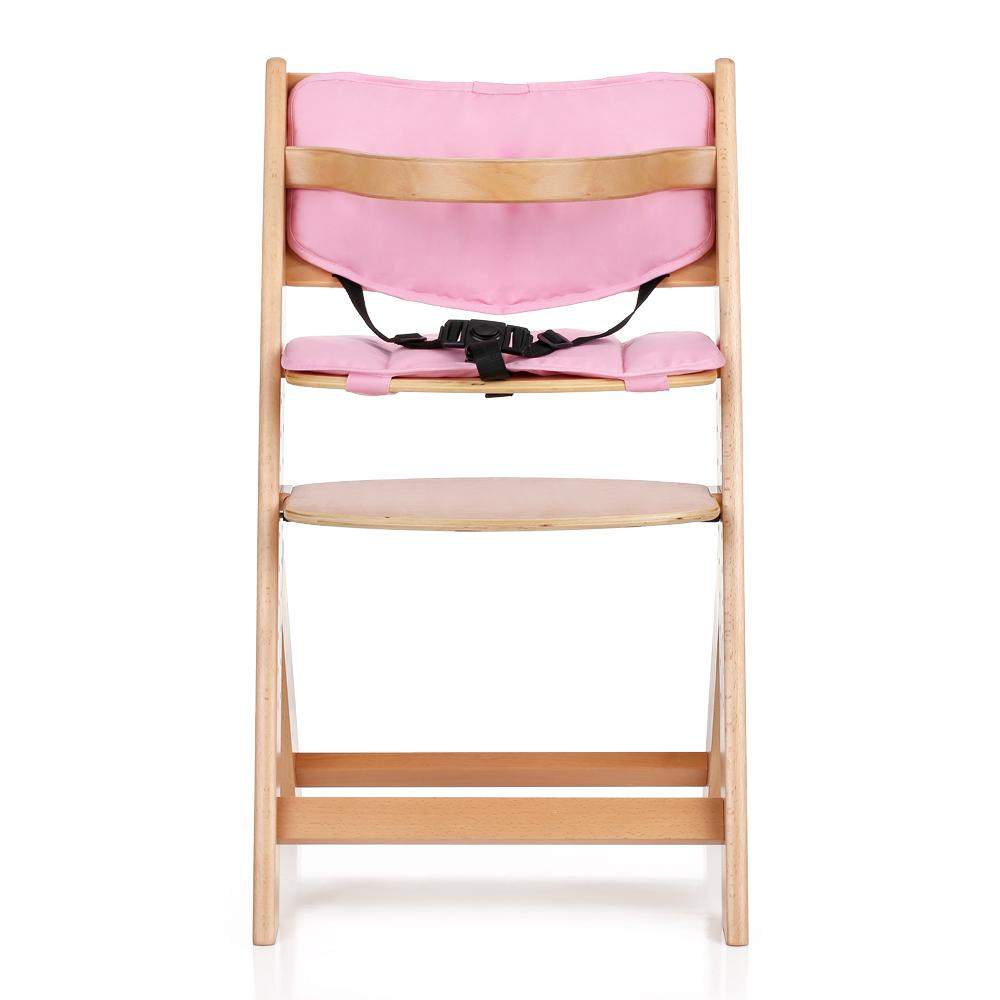 Chaise haute b b en bois r glable en hauteur chaise - Chaise haute bebe evolutive bois ...