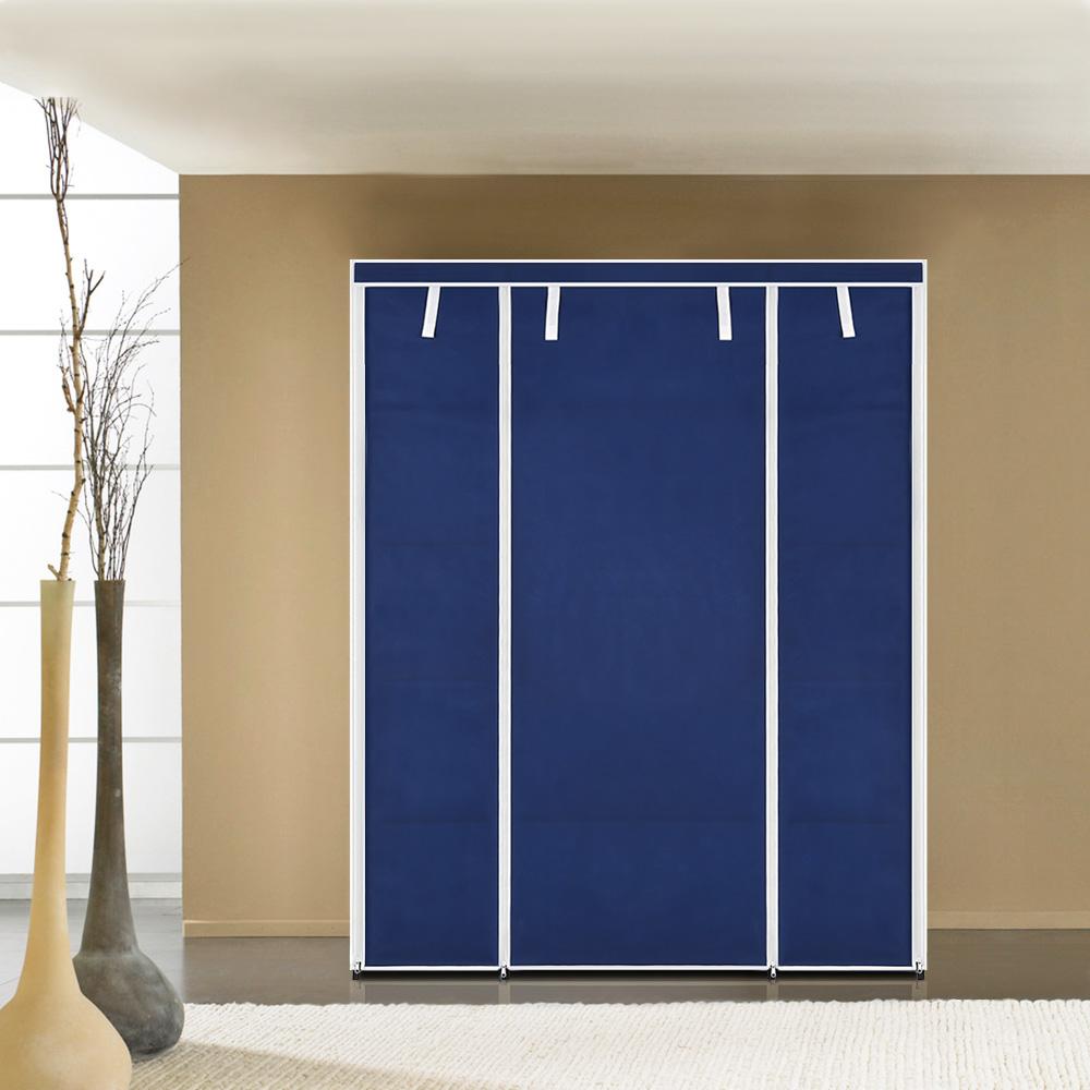IKayaa Portable Closet Fabric Clothing Storage Wardrobe Cabinet