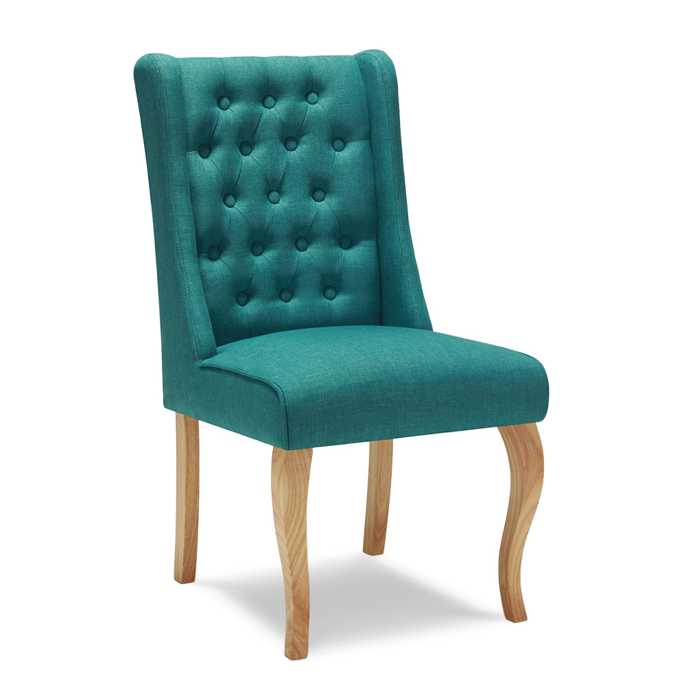 chaise de s jour scandinave en lin bleu interouge home h17014fr. Black Bedroom Furniture Sets. Home Design Ideas