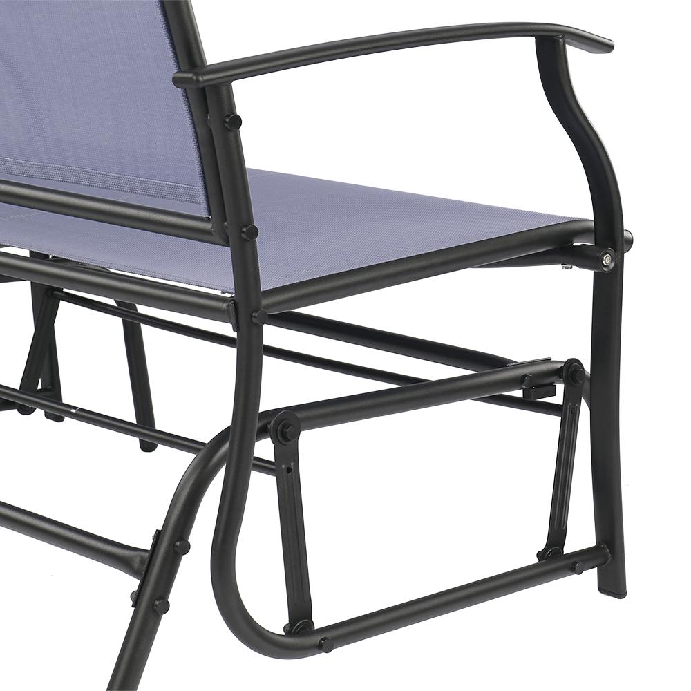 nur ikayaa 2 person terrasse schaukel glider bank. Black Bedroom Furniture Sets. Home Design Ideas