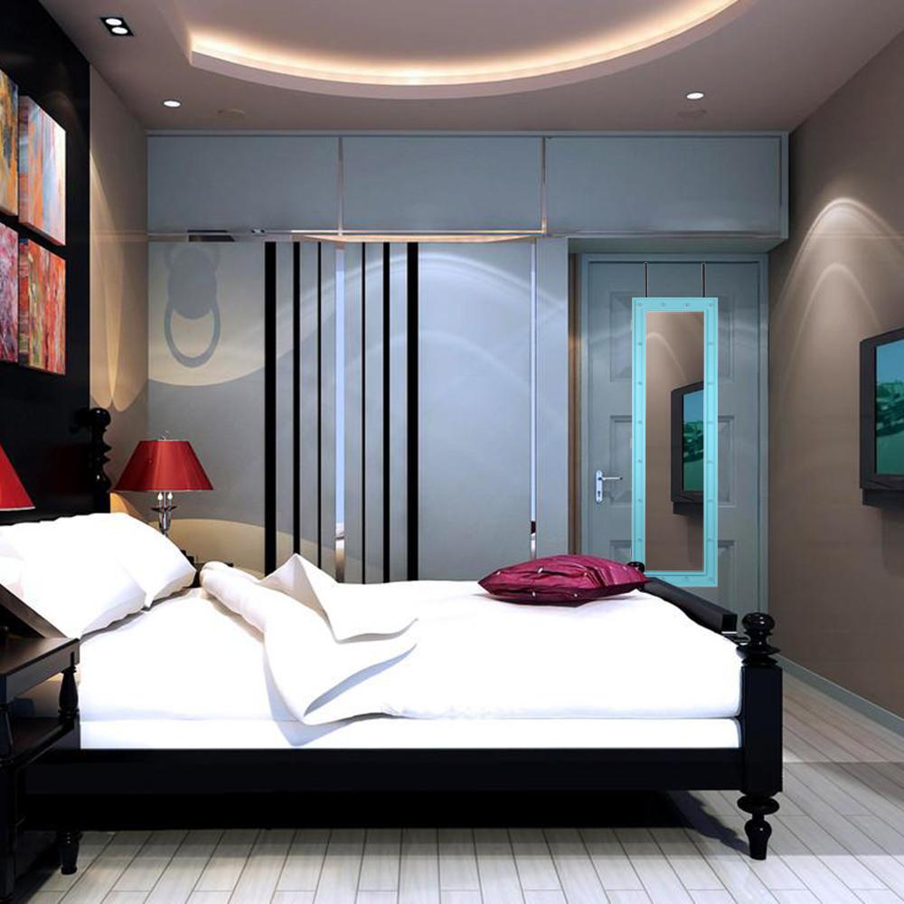 Nur 68.90€, iKayaa Mode LED Lichter hängende Schmuck Armoire Tür ...