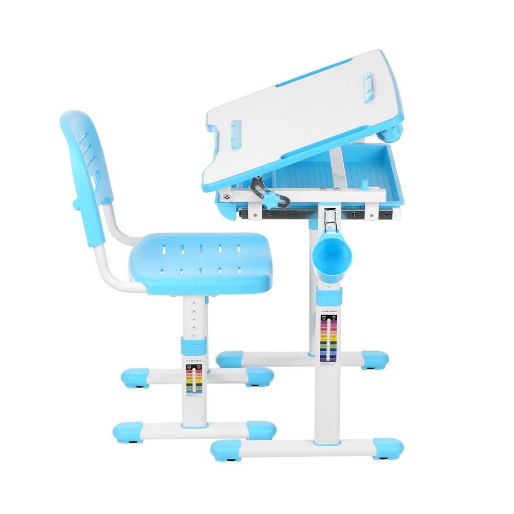 Ikayaa Height Adjustable Kid S Study Desk And Chair Set
