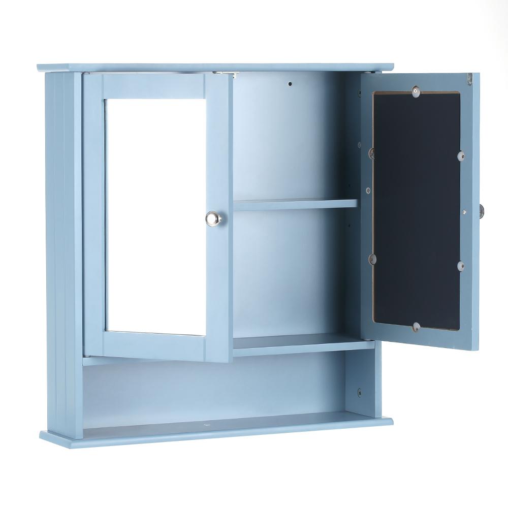 IKayaa Modern 2-Door Wall Cabinet With Glass Doors & Shelves