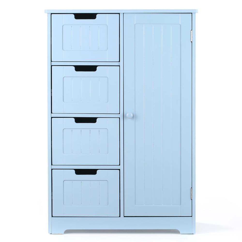 Ikayaa Modern Bedroom Shelved Floor Cabinet With Door