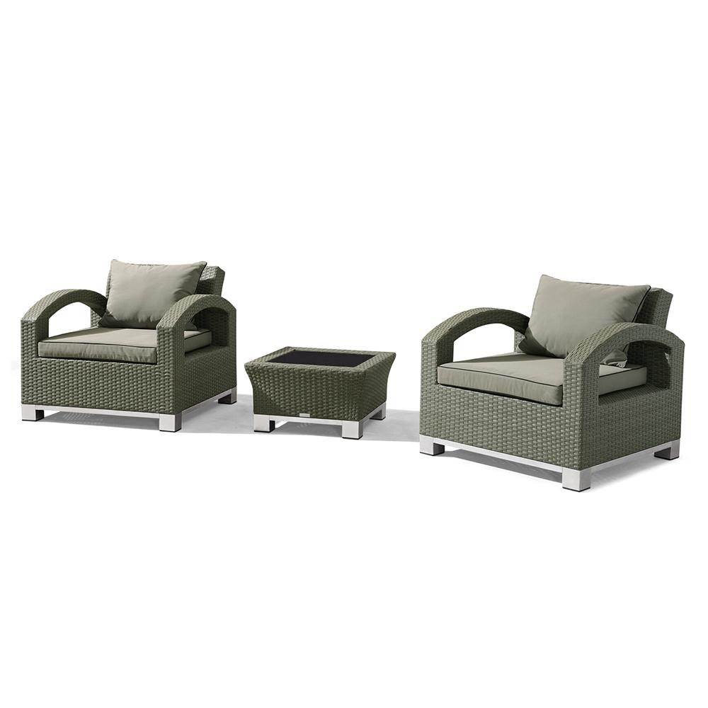 Nur 899.00€, Salon de jardin RILASA : 2 fauteuils + table d\'appoint ...