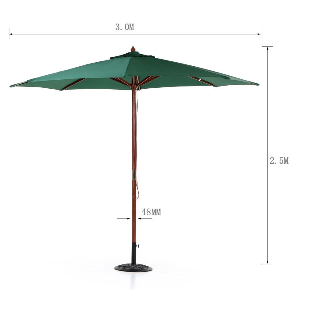 ikayaa parasol de jardin et terrasse parasol octogonal. Black Bedroom Furniture Sets. Home Design Ideas