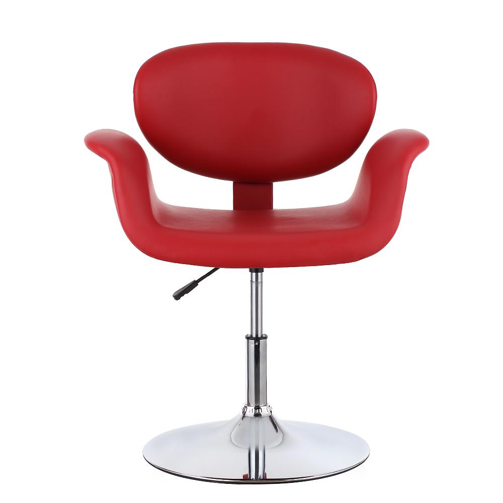 Red Ikayaa Modern Ergonomic Leather Salon Barber