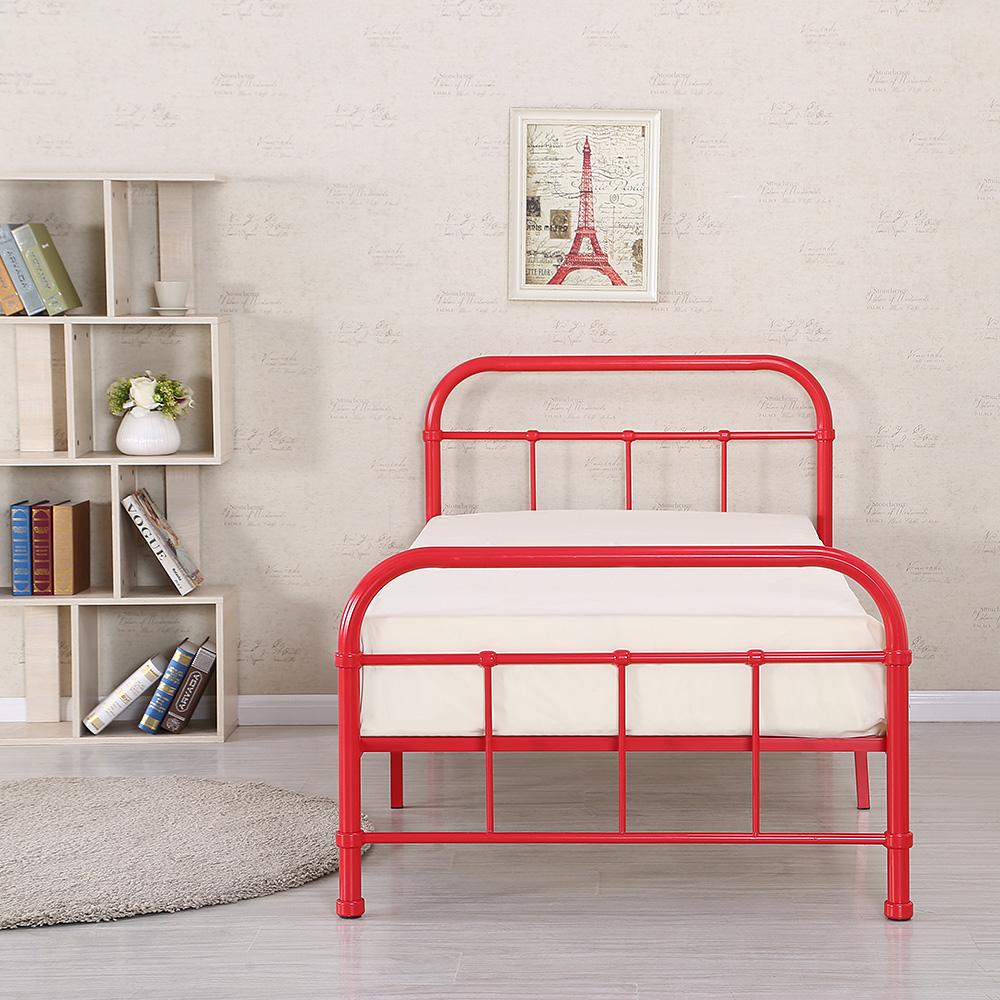 Solo ikayaa di alta qualit piattaforma di metallo telaio del letto w legno lamelle - Telaio del letto ...