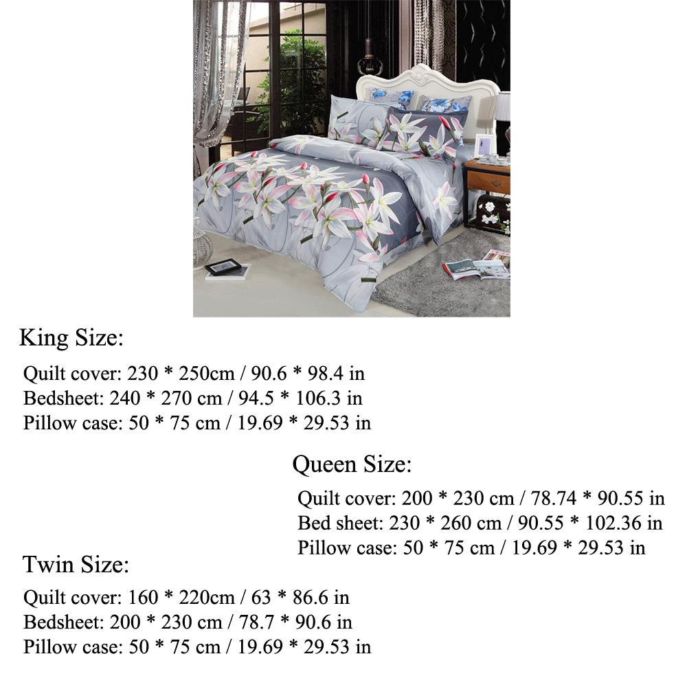 Sólo 24.17€, 4pcs 3D impreso ropa de cama ropa de cama Set lirio de ...
