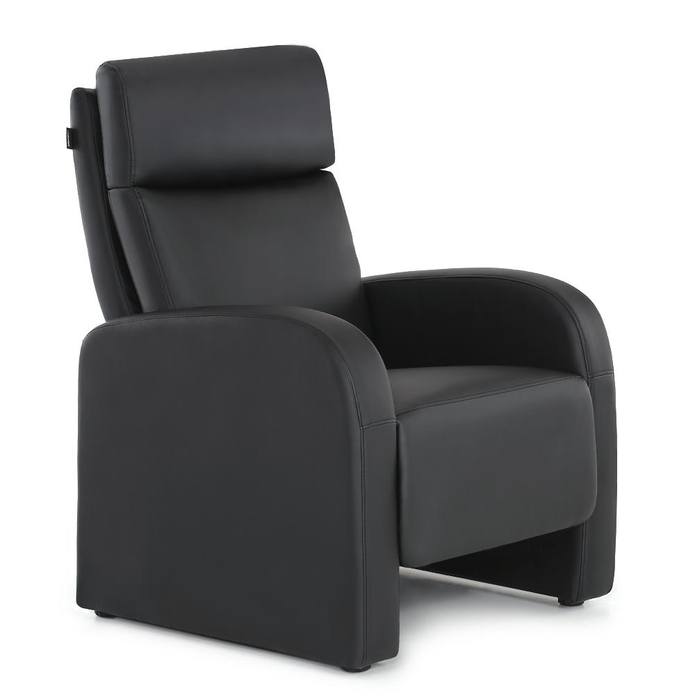 Black Ikayaa Living Room Recliner Leather Sofa Chair Lovdock Com ~ Black Leather Sofa Chair