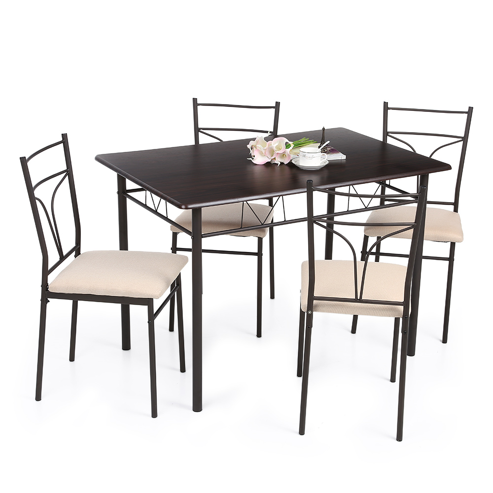 d s ikayaa ensemble table et chaises manger 4 personnes 2 4 places. Black Bedroom Furniture Sets. Home Design Ideas