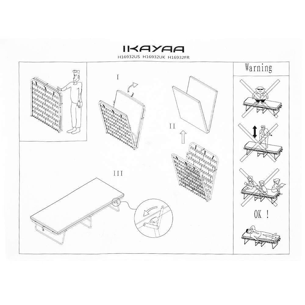 Sólo 70.07€, iKayaa cama individual plegable portátil Cuna de ...