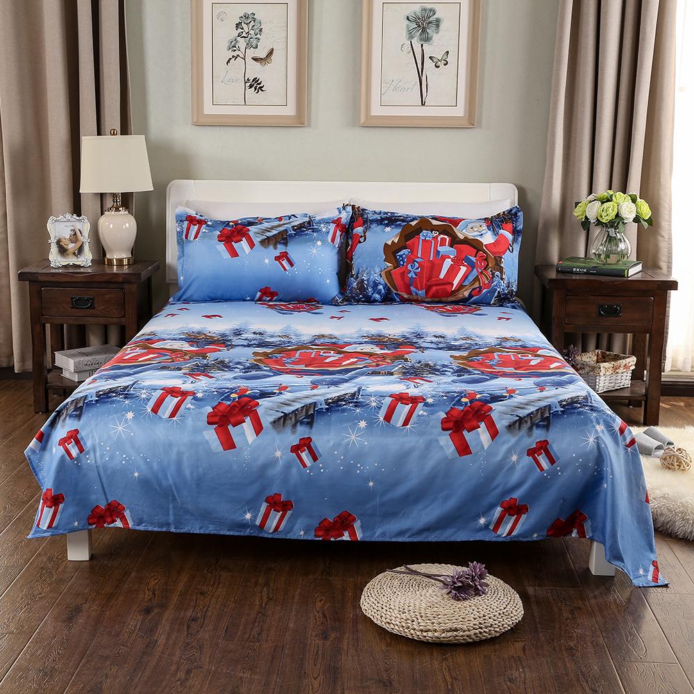 nur weihnachten santa bettw sche 3d bedruckte. Black Bedroom Furniture Sets. Home Design Ideas