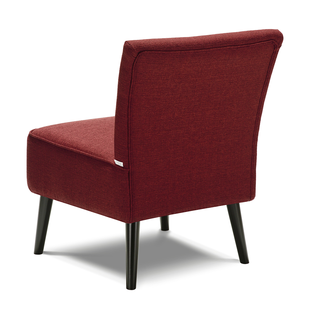 Fauteuil contemporain large assise rouge bordeaux Interougehome H17015FR