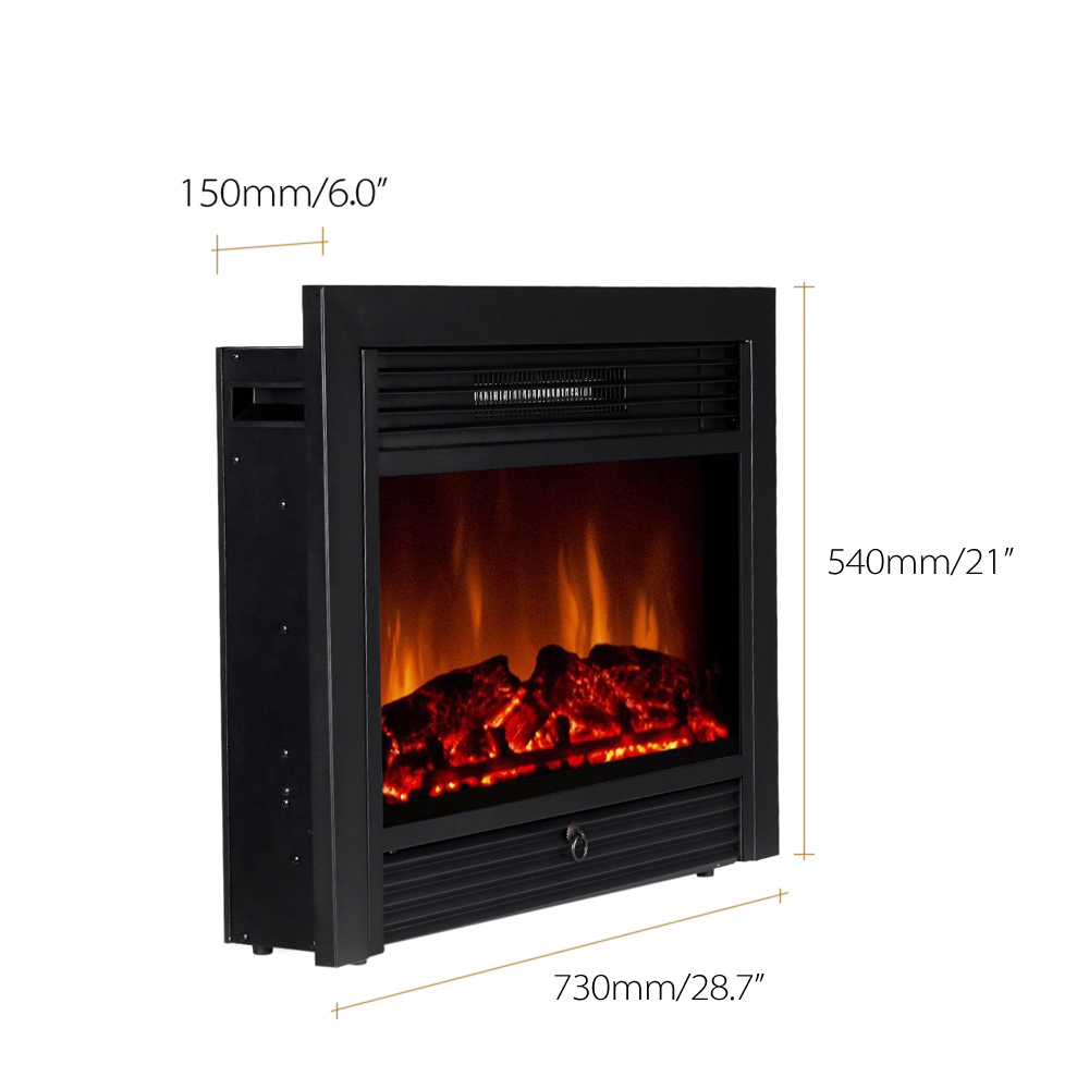 curved fireplace flame view inch electric p insert elite quick