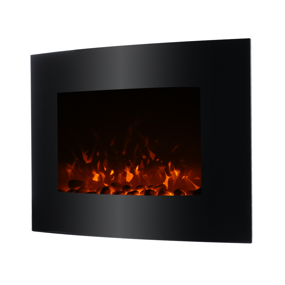 decdeal xl large electric wall fireplace 3d flame heater heat adjustable. Black Bedroom Furniture Sets. Home Design Ideas