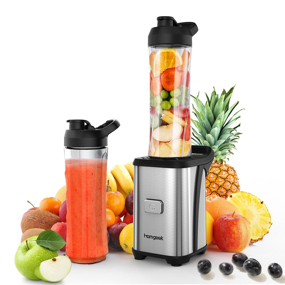 Homgeek mini 350w fruit and vegetable single serve juice extractor - Extracteur de jus com ...