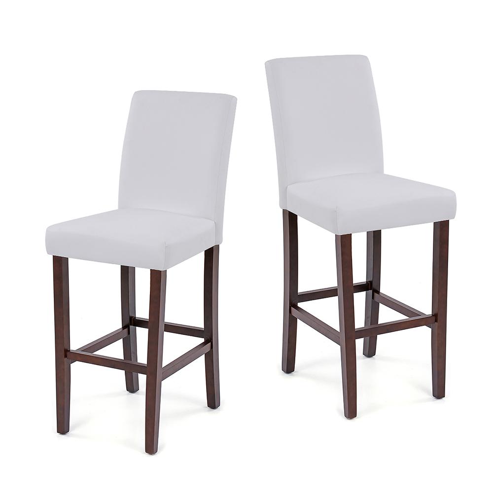 Only ikayaa 2pcs jeu de 2 bar en cuir moderne for Chaise salle manger moderne cuir