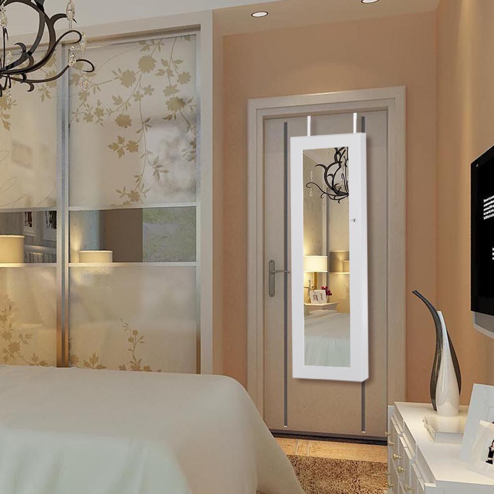 Porta Orecchini Da Parete solo 118.42€, ikayaa moda specchio monili d'attaccatura armoire gioielli  armadio storage box organizzatore sopra la porta / parete - lovdock